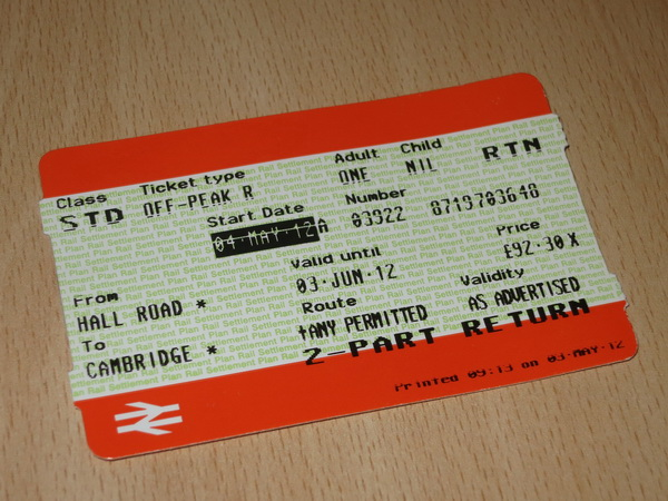 Rail ticket