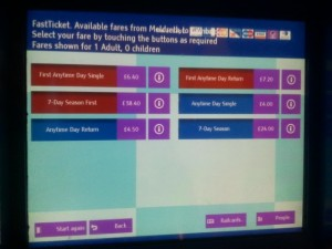 Ticket Machine Screen