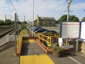 Meldreth Station access ramp